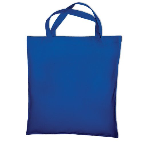 "Jassz Bags ""Cedar"" Cotton Short Handle Shopping Bag / Tote (One Size) (Turquoise)"
