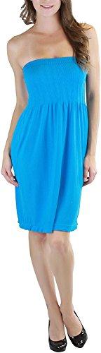 ToBeInStyle Women's Summer Tube Top Mini Dress - One Size - Blue