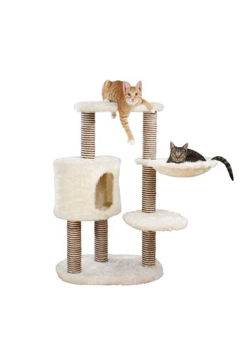 TRIXIE Pet Products Moriles Cat Tree House, Cream