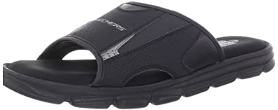 Skechers Men's Relaxed Fit Slide Sandal Slide Sandal,Black,7 M US