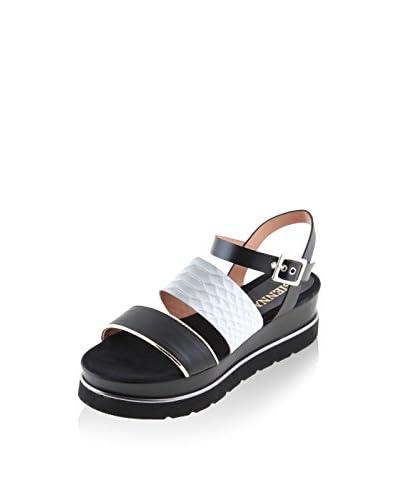 SIENNA Sandalo Platform Nero/Argentato EU 39