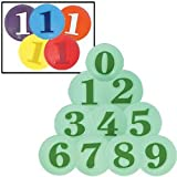 Numbered (0-9) Poly Spots in Colors (SET)