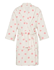 Autograph Pure Cotton Spotted Towelling Dressing Gown