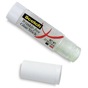 3M Scotch Wrinkle-Free Glue Stick - .27 oz, Wrinkle-Free Glue Sticks, Pkg of 2