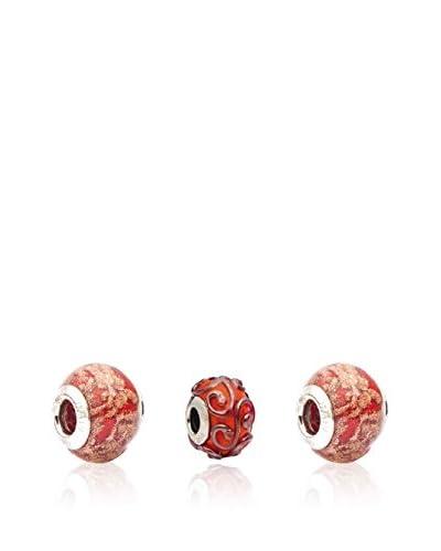 Valentina Beads by Gli Ori di Venezia Set de charms Valentina Rojo
