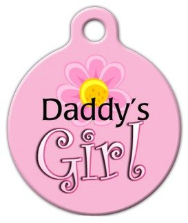 Daddy'S Girl - Custom Pet ID Tag for Dogs and Cats - Dog Tag Art