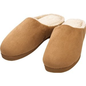 Health O Meter HM2105Q Unisex Micro Suede Slippers with Massage - Size Medium