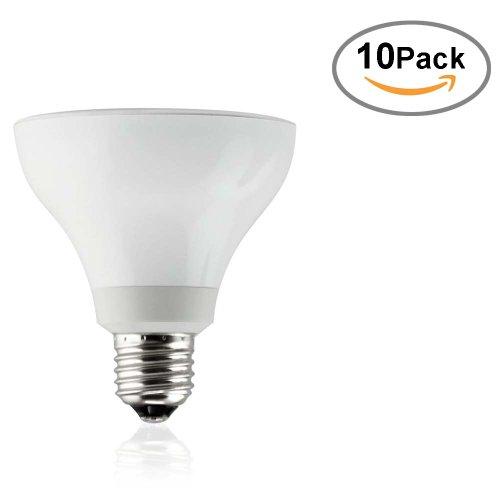 10-Pack Sunsun Lighting Par30 Led Dimmable Spot Light Bulb With Short Neck, Soft White