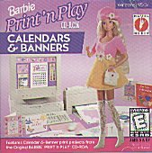 Barbie Print 'N Play Calendars & Banners front-810468