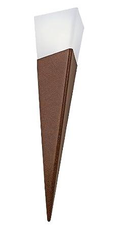 Eglo 83966 Sidney Aussen-Wandleuchte Ø 27,5cm Edelstahl Weiss