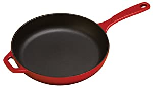 Lodge Color EC11S43 Enameled Cast Iron Skillet, Island Spice Red, 11-inch