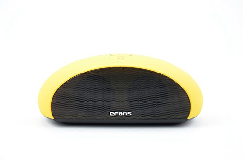 Granvela® G1 Touch The Stone Nfc Stereo Bluetooth Speakers Works With Iphone Ipad Ipod,Mp3 Player,Tablet,Laptop,Computers And Any Bluetooth Enabled Device,Support 3.5Mm Audio Cable Connection --Yellow