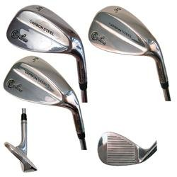 Confidence Golf Carbon Steel Wedge (Set 3 Clubs 52, 56, 60)