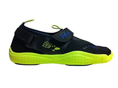 Buy Fila SKELE-TOEZ EZ SLIDE 3PK14074 Black Lime Mens by Fila