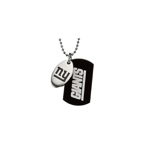 65 St Steel 45mm New York Giants NFL Football Team Jewelry Men 2 Dog Tag W/Chain