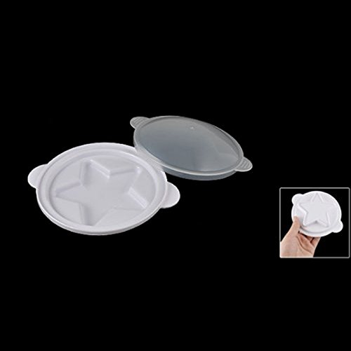 Great Value Kitchen Storage & Organization Pentagram Microwave Steamed Plastic Steaming Egg Tray Eggs Poacher W Cover White