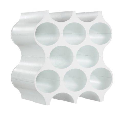 koziol Weinregal Flaschenregal SET-UP 4-teilig (Farbe: solid weiß)