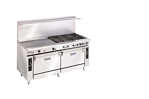 Imperial-Commercial-Restaurant-Range-72-Griddle-With-2-Convection-Ovens-Natural-Gas-Ir-G72-Cc