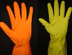 SURF INDUSTRIAL REUSABLE LATEX RUBBER HAND GLOVES for Household / Kitchen / Washing/Chemicals...