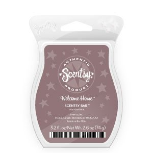 Welcome Home Scentsy Bar Wickless Candle Tart Warmer Wax 3.2 Fl Oz, 8 Squares