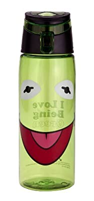 Zak! Designs Tritan Water Bottle with Flip-top Cap with Kermit from the Muppets, Break-resistant and BPA-Free Plastic, 25 oz. by Zak Designs