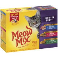 Meow Mix Surf \'N Turf Variety Pack Cat Food - 12 CT