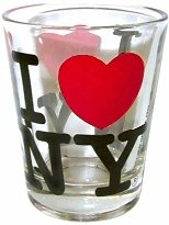 I Love New York Shot Glass, New York Shot Glasses, New York City Souvenirs
