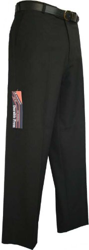 Durable Press Mens Easy Care Trousers Black 36S