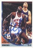 Herb Williams New York Knicks 1994 Topps Autographed Hand Signed Trading Card. by Hall of Fame Memorabilia