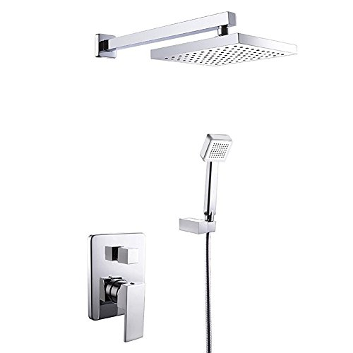 Amzdeal-Brass-8-Inch-Rainfall-Shower-Systems-Temperature-sensing-RGB-LED-ABS-Hand-held-Shower-Head