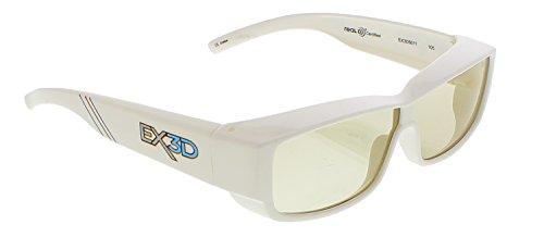 EX3D Eyewear passiv Polarisations REAL-3D Brille Weiß für Erwachsene