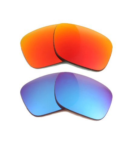 New SEEK OPTICS Replacement Lenses for Oakley HOLBROOK - Red & Blue Mirror Combo