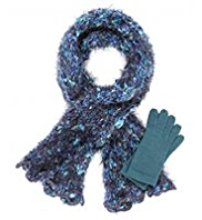 Per Una Fuzzy Scarf & Gloves Set