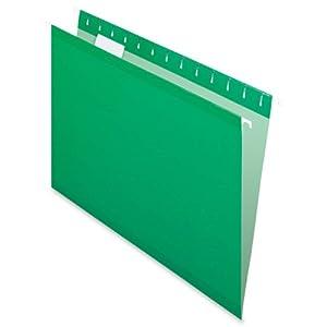 Pendaflex Hanging Folder, Bright Green, 1/5 Tab, Letter, 25 Box, 4152 1/5 BGR