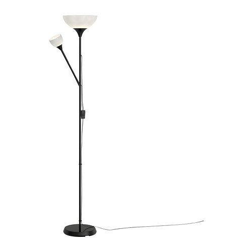 Ikea 701.451.32 Not Floor uplight/reading lamp, black, white