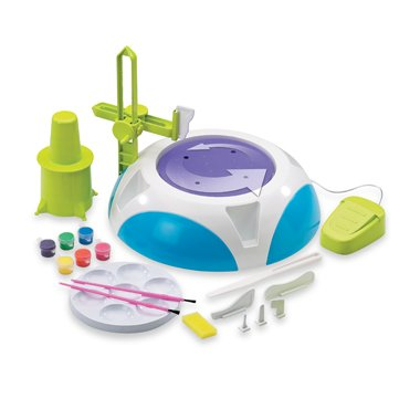 Discovery Kids Motorized Pottery Wheel with 2 Poundsof Air Dry Clay and 0ver 80 Tiles and Jewels