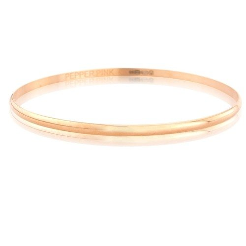 Mark Milton Vermeil 18ct On Solid Silver Rose Gold Bangle - MME0006R