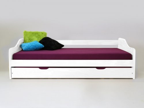 Kojenbett inkl. extra Bett 2x Lattenroste Kiefer weiss...
