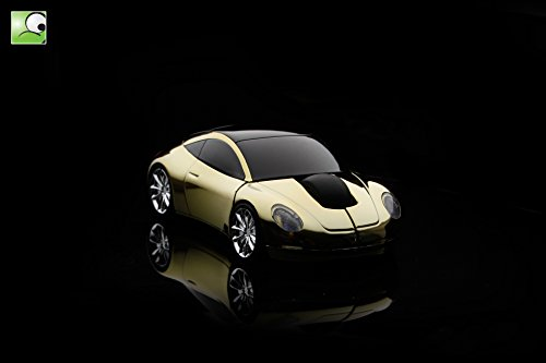 Minicute DriftX Wireless Car Mouse - Gloden Porsche 911 Limited Edition