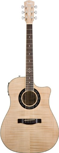Fender T-Bucket 400 Ce Acoustic-Electric Guitar, Flame Maple, Fishman Preamp - Natural