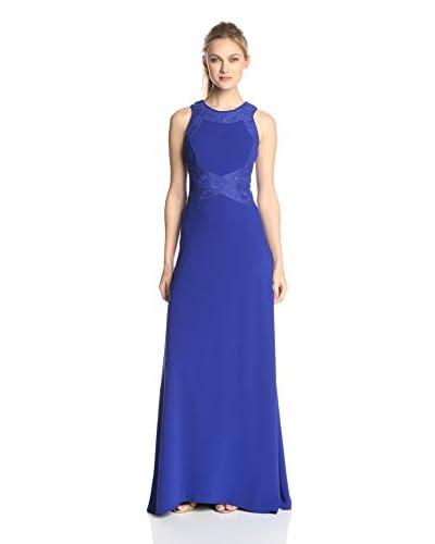 JS Collection Women's Criss-Cross Waist Crepe Gown