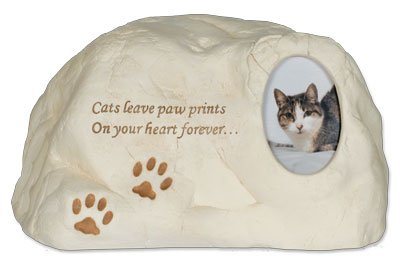 Cat Paws PolyStone Cremation Urn - Cats Leave Paw Prints...