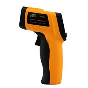 BENETECH Gm300 -50 Degrees to 380 Degrees Non-contact Infrared Digital Temperature Thermometer Laser Point (Orange)