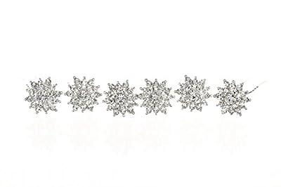 Set of 6 Rhinestone Crystal Starburst Bridal Weddng Hair Pins H113