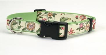 Spring Fling Dog Collar, 1-Inch Wide, Adjustable 18 - 24-Inch