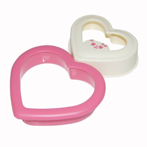 Heart Shaped Sandwich Maker Bread Mould Cutter (1, Pink&White) (Toaster Cut compare prices)