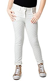 Cotton Rich Spotted Skinny Jeans