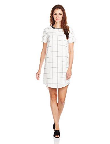 UCB Women's Skater Dress (15A4MC3V9083I901_Black and White _S)