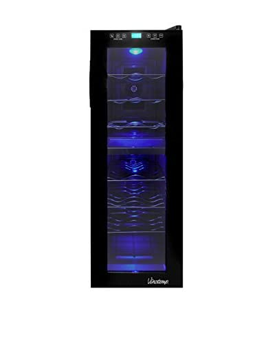 Vinotemp 21-Bottle Dual-Zone Touch Screen Wine Cooler, Black/Chrome