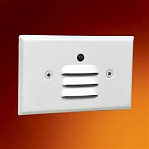 Wall Sconces Nsw : Nora Lighting NSW-661PC LED Mini Step Light with Photocell, Louver - Indoor Step Lights - Amazon.com
